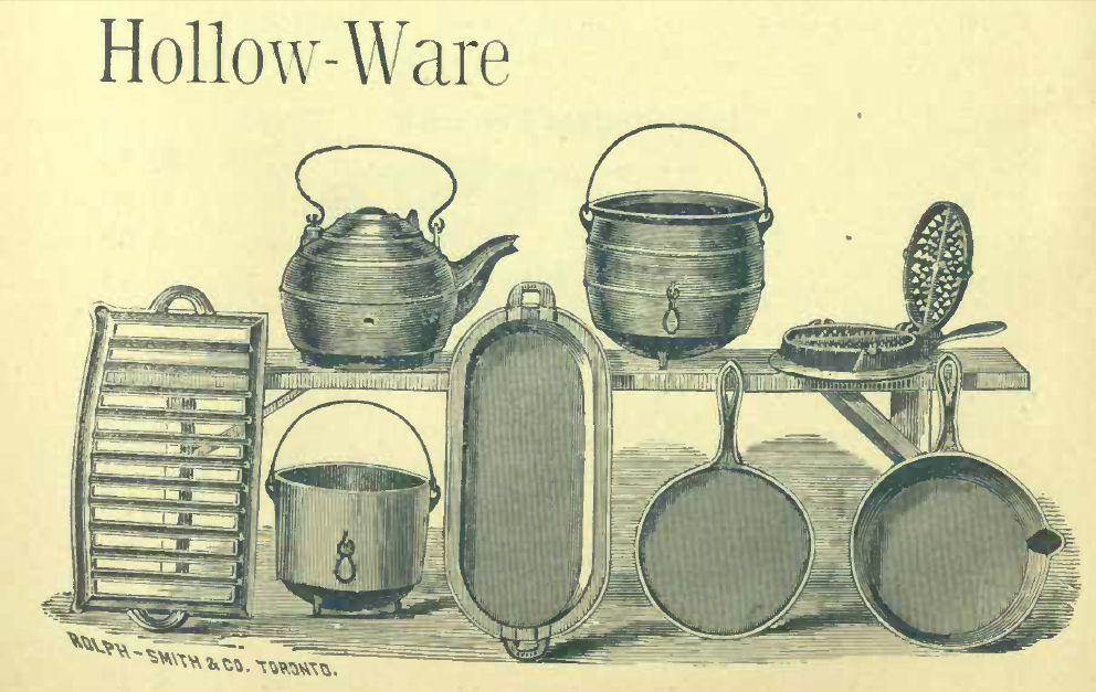 Gurney collection cast iron hollow ware 1892