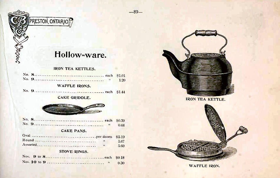 Clare brothers cast iron hollow ware
