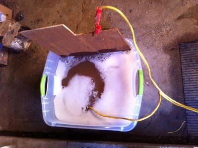 Electrolysis cast iron power supply