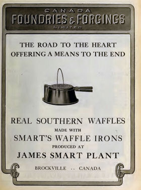 James smart Rounded G high base waffle iron.